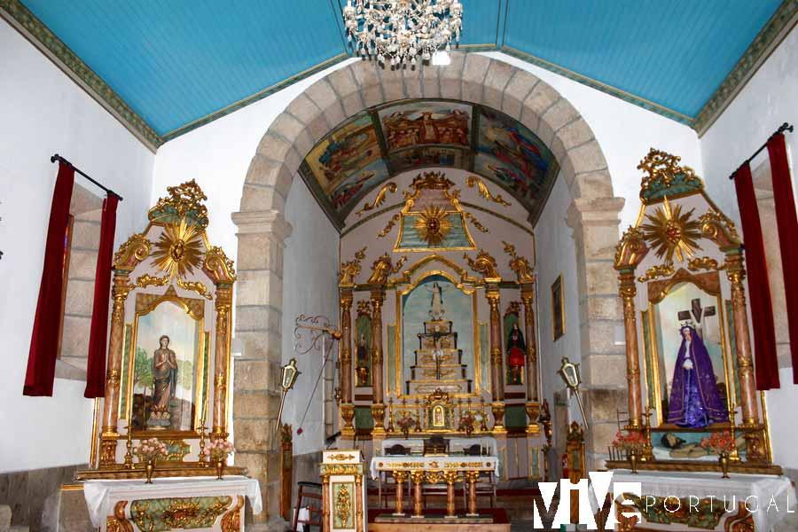 Interior de la iglesia de la Misericordia de Almeida