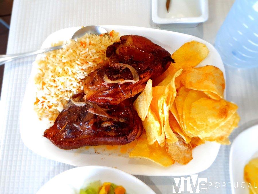 Pernil del restaurante Peralta de Escalhão