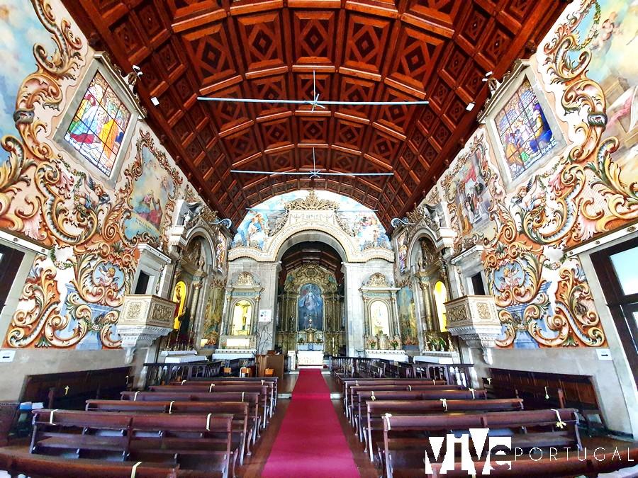 Interior de la igreja de Nossa Senhora do Amparo de Válega