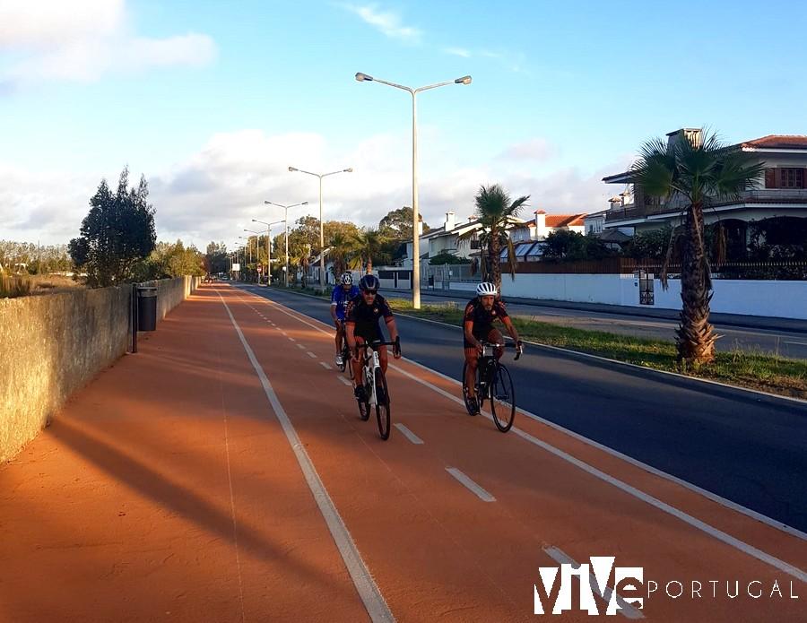 Carril bici entre Ovar y Furadouro