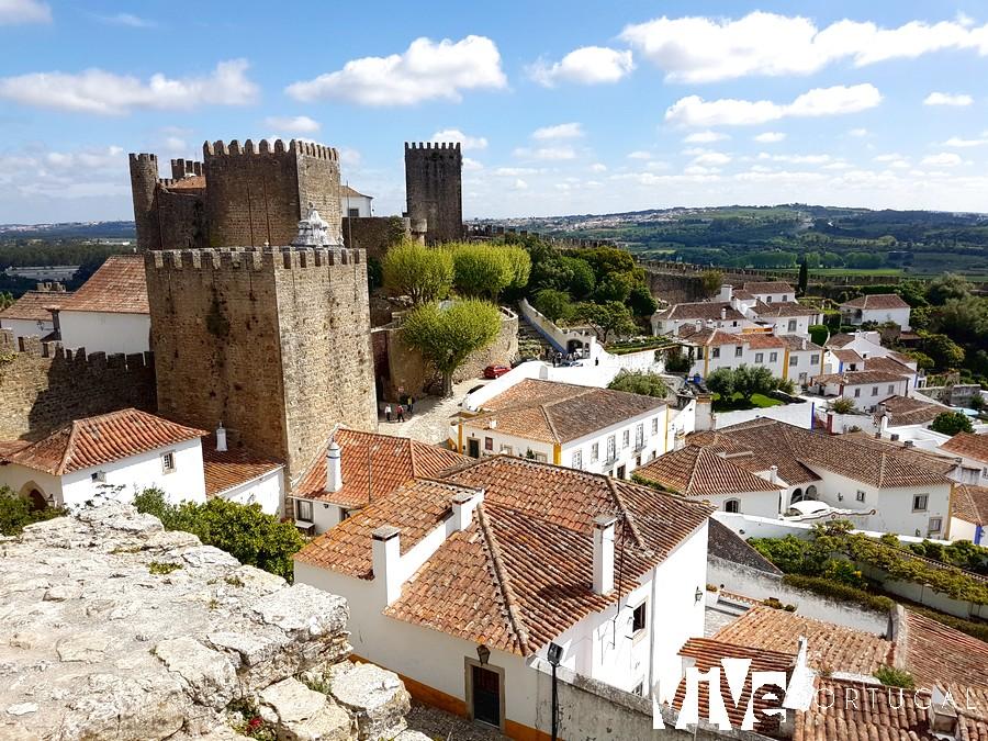 Vista del castillo de Óbidos desde la muralla